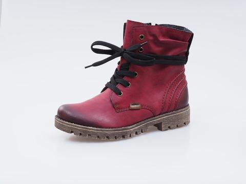 0617af4217 Soňa - Dámska obuv - Kotníčky - Bordové zateplené šnurovacie topánky Rieker