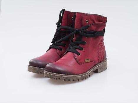 05dc3f6d89 Soňa - Dámska obuv - Kotníčky - Bordové zateplené šnurovacie topánky Rieker