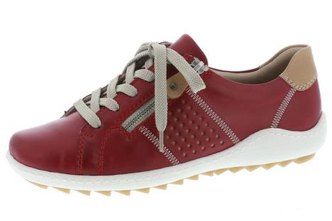 c45103289baa Červená dámska obuv športová-vychádzková značky Remonte - Rieker