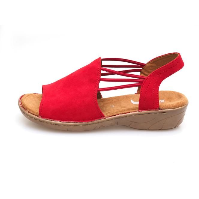 59815f749a50 ... Červené dámske sandále na nízkom podpätku značky Jenny ...