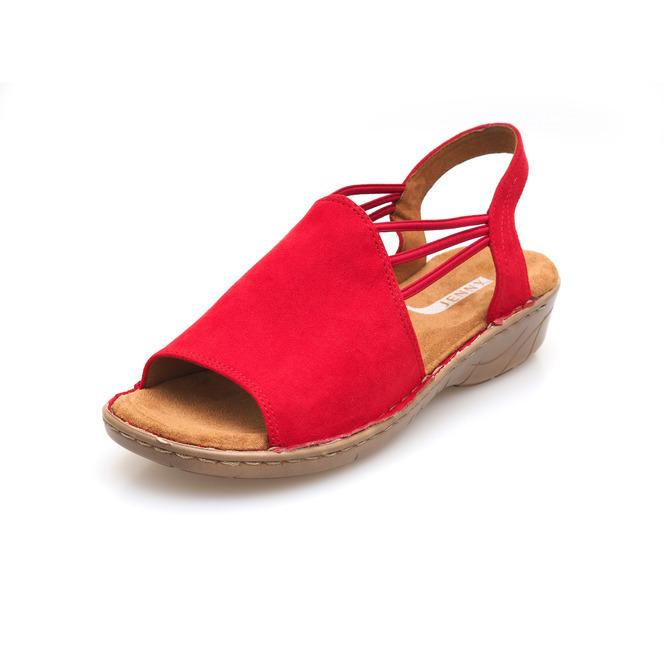 23f8f5fe28f9 Červené dámske sandále na nízkom podpätku značky Jenny ...