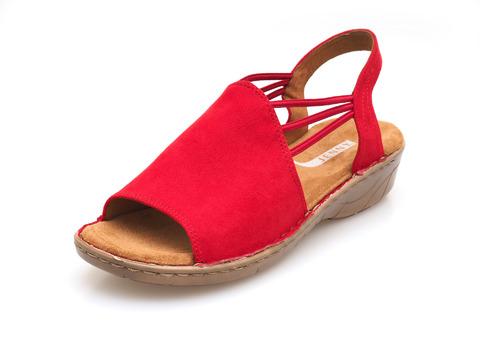 ca985fd68b3e8 Soňa - Dámska obuv - Sandále - Červené dámske sandále na nízkom podpätku  značky Jenny
