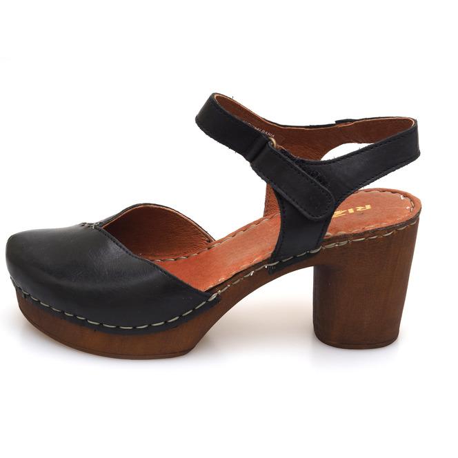 c9d09440206f ... Čierna dámske uzatvorené sandále na vysokom podpätku Rizzoli - čierne  ...