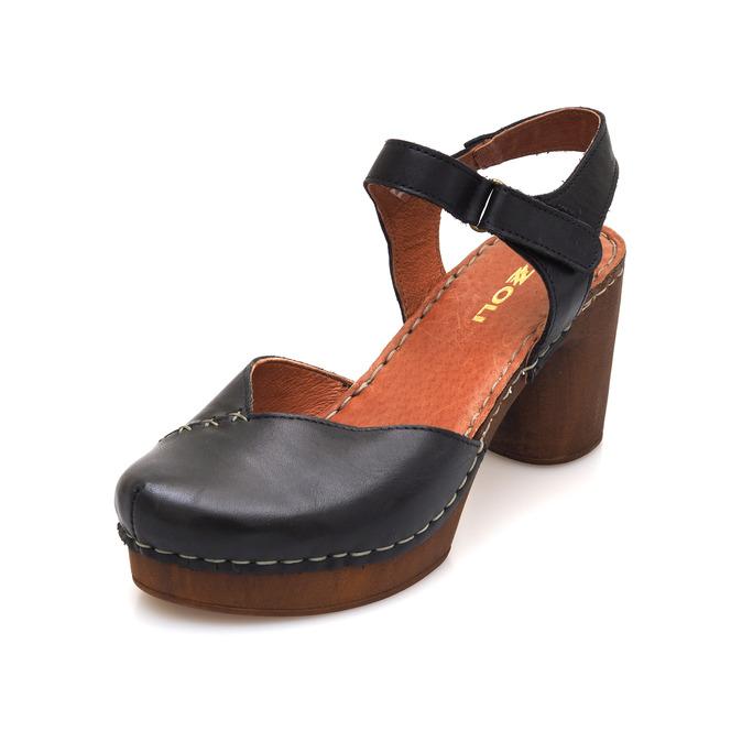 2a153edbfe51 Čierna dámske uzatvorené sandále na vysokom podpätku Rizzoli - čierne ...