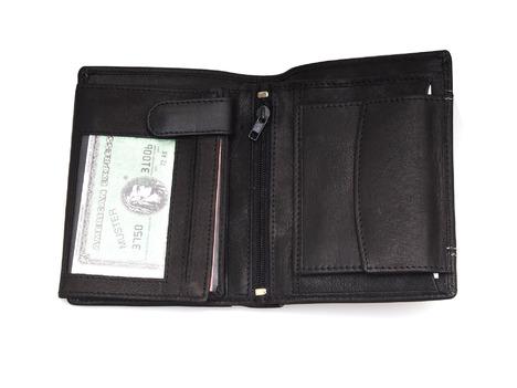 ef447a48c0 Soňa - Pánska - Pánska galantéria - Čierna kožená pánska peňaženka s  prešívaním
