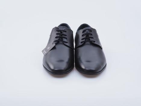 eccef6c0887aa Soňa - Pánska obuv - Poltopánky - Čierna pánska šnurovacia obuv Bugatti