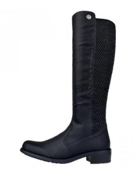 5d1c652a24 Soňa - Dámska obuv - Čižmy - Čierne čižmy so zateplením na nízkom ...