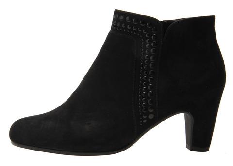 35eb24069b38d Soňa - Dámska obuv - Kotníčky - Čierne členkové topánky Gabor z brúsenej  kože
