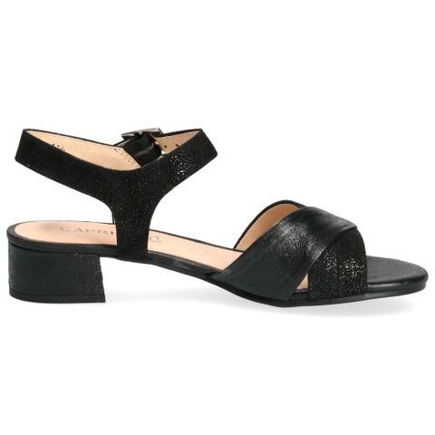 Soňa Dámska obuv Sandále Čierne dámske otvorené sandále na nízkom podpätku značky Caprice