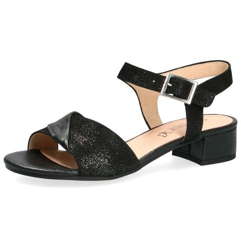 9f86f3238b3d9 Soňa - Dámska obuv - Sandále - Čierne dámske otvorené sandále na nízkom  podpätku značky Caprice