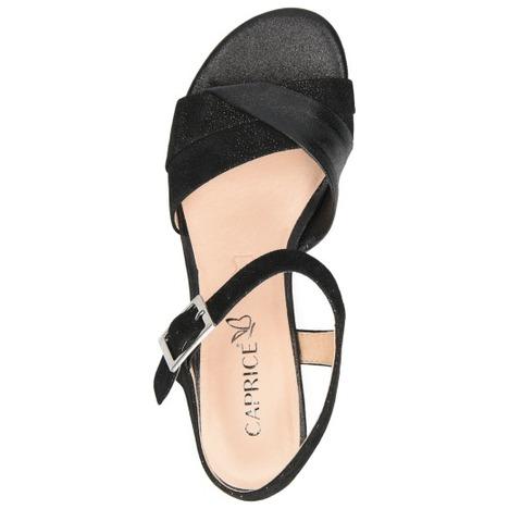 78602f5b2f55 Soňa - Dámska obuv - Sandále - Čierne dámske otvorené sandále na ...