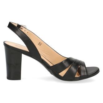 bb0b5c01ddeb ... Čierne dámske otvorené sandále na vysokom podpätku značky Caprice ...
