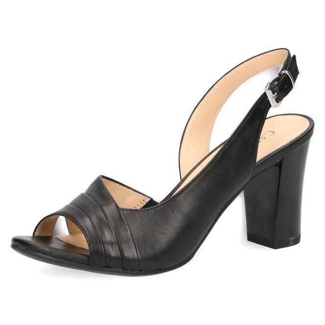 f33584504b38 Čierne dámske otvorené sandále na vysokom podpätku značky Caprice ...