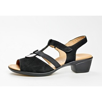 0f9d7e432916 Čierne dámske sandále na nízkom podpätku značky Ara ...