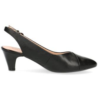 433e83df894d ... Čierne dámske sandále na nízkom podpätku značky Caprice ...