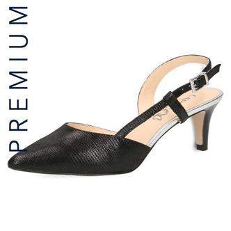 3b6a3c97cdea Čierne dámske sandále na vysokom podpätku značky Caprice ...