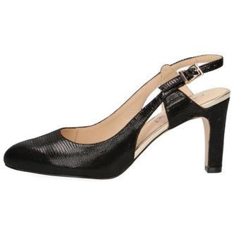 b1383946c14e ... Čierne dámske uzatvorené sandále na vysokom podpätku značky Caprice ...