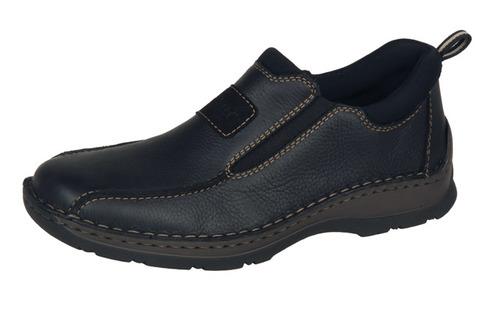 3764562cc197 Soňa - Pánska obuv - Mokasíny - Čierne kožené mokasíny Rieker s ...