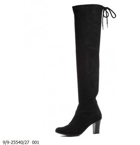00a33725d74f Soňa - Dámska obuv - Čižmy - Čierne textilné čižmy Caprice