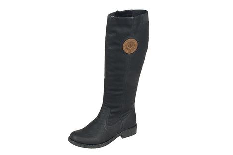 86cb6365a9 Soňa - Dámska obuv - Čižmy - Čierne vysoké zateplené čižmy Rieker