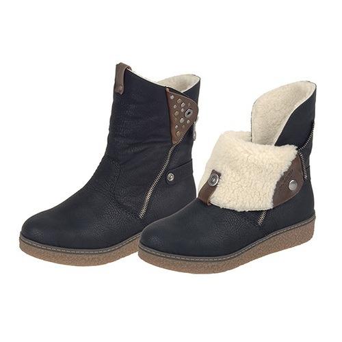 Soňa - Dámska obuv - Čižmy - Čierne zateplené čižmy Rieker na nízkom ... cd3c65c4746