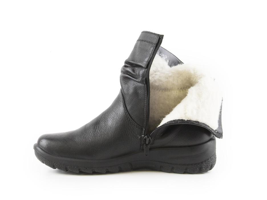 0fa2680320e6 Soňa - Dámska obuv - Čižmy - Čierne zateplené čižmy Rieker na nízkom  podpätku