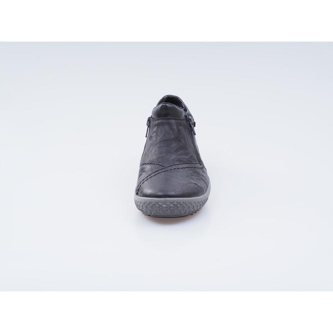 ... Členková zateplená obuv na nízkom podpätku čiernej farby Výpredaj  Posledn 9e96f7c43c7
