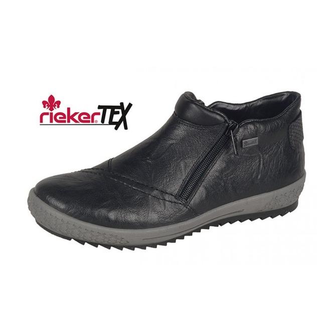 9f6424e04126 Členková zateplená obuv na nízkom podpätku čiernej farby ...