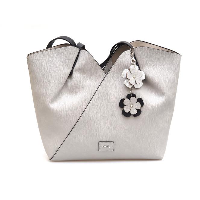 3eca38f5b361 ... Dámska kabelka cez plece značky Ara farba - biela káva ...