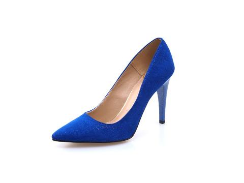 f4dc82983d Soňa - Dámska obuv - Spoločenská obuv - Dámska lodička na vysokom podpätku  modrá