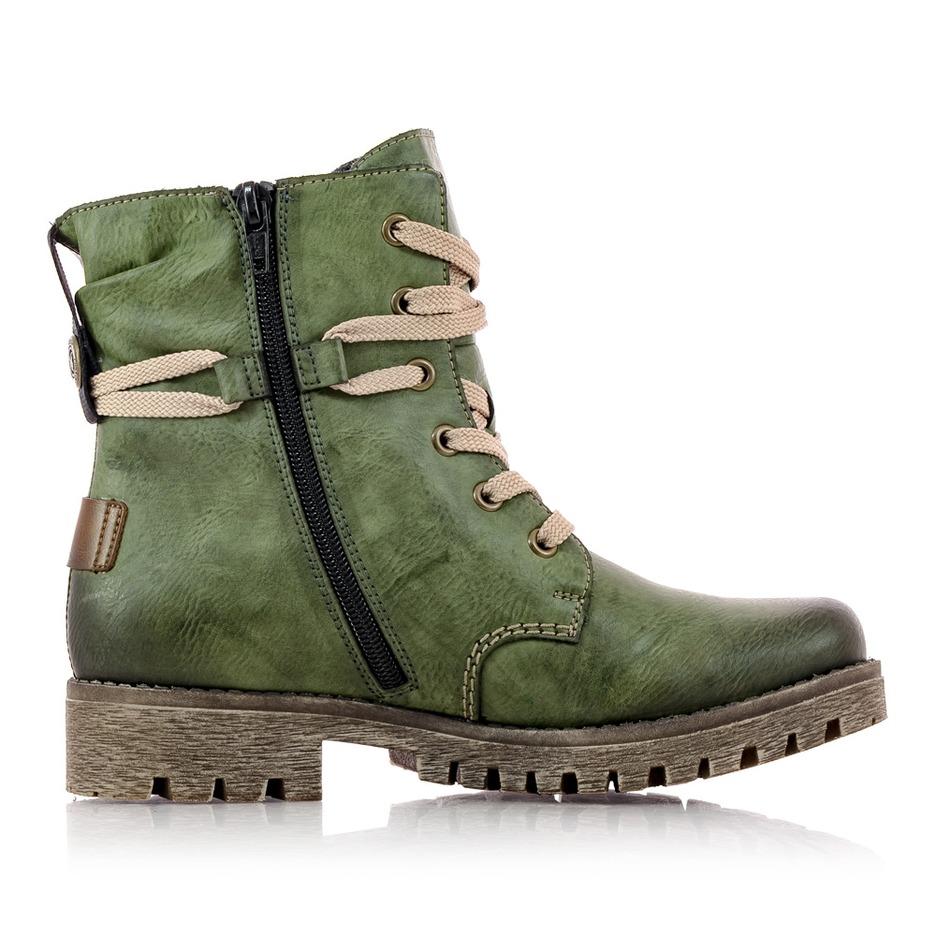 7f91598423813 Soňa - Dámska obuv - Kotníčky - Dámska obuv značky Rieker zelenej farby