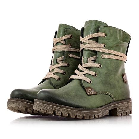 f993c2b79d510 Soňa - Dámska obuv - Kotníčky - Dámska obuv značky Rieker zelenej farby