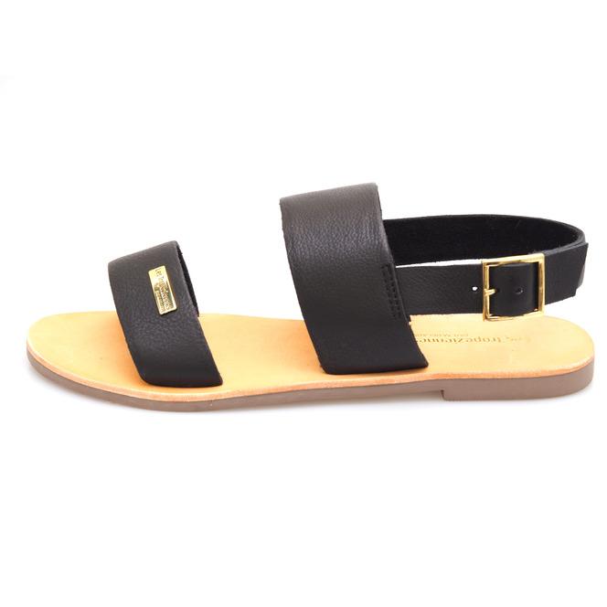 b07fc1105 ... Dámske otvorené sandále na nízkom podpätku Les Tropeziennes - čierna ...