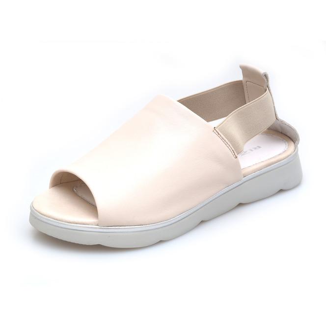 5d5d79f05a60 Dámske otvorené sandále na nízkom podpätku Rizzoli - béžové ...