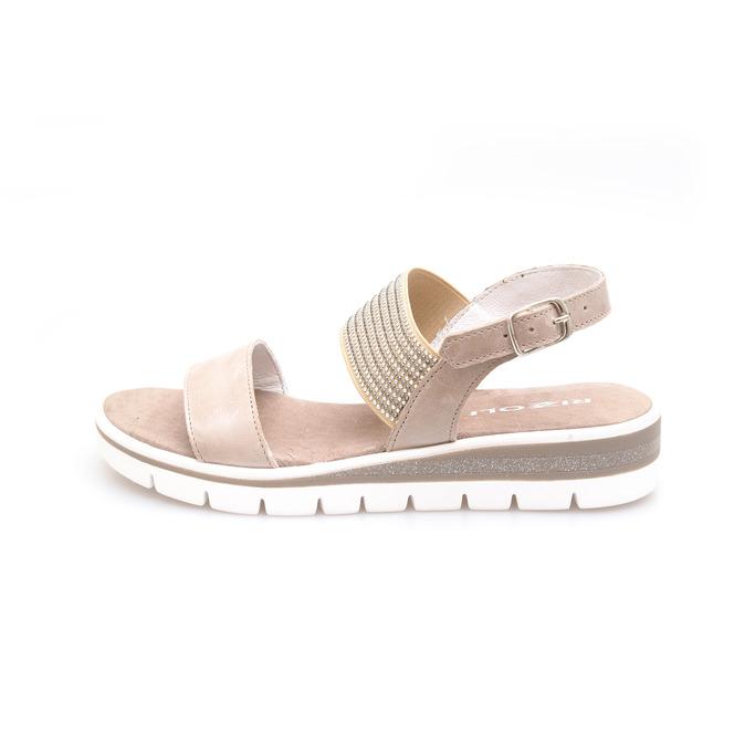 65317200c78f ... Dámske otvorené sandále na nízkom podpätku Rizzoli - hnedé ...