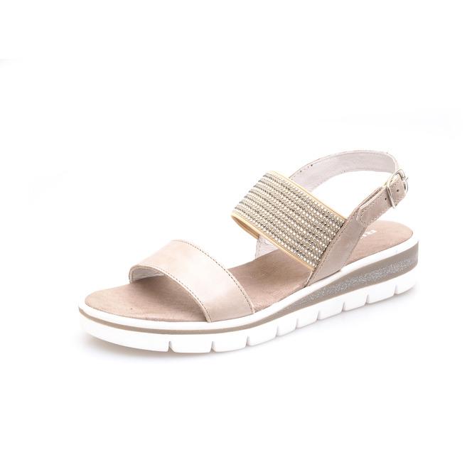 2886f95503fd Dámske otvorené sandále na nízkom podpätku Rizzoli - hnedé ...
