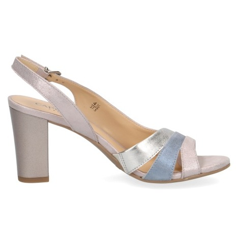 e5f7047cdc Dámske otvorené sandále na vysokom podpätku značky Caprice farba ružová