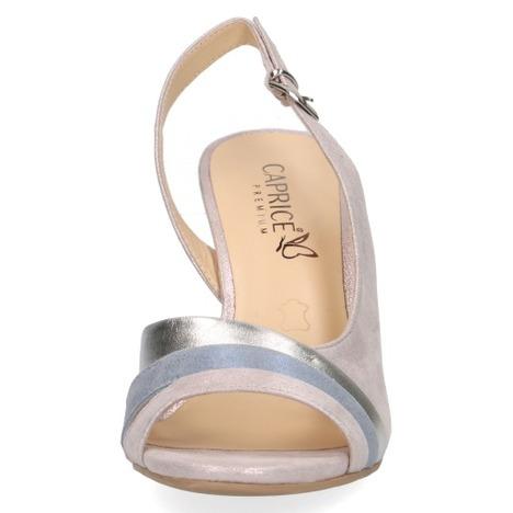 6c4259a5b1 Dámske otvorené sandále na vysokom podpätku značky Caprice farba ružová