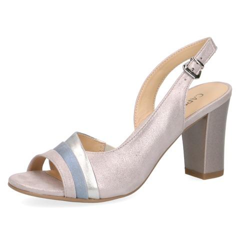 0713784e88 Soňa - Dámska obuv - Sandále - Dámske otvorené sandále na vysokom podpätku  značky Caprice farba ružová