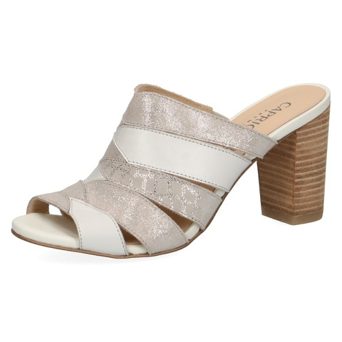 e6a3182d2f Soňa - Dámska obuv - Šľapky - Dámske šľapky na vysokom podpätku značky  Caprice farba biela káva