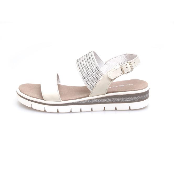 87a3bd64d ... Dámske uzatvorené sandále na nízkom podpätku Rizzoli - biele Popis28