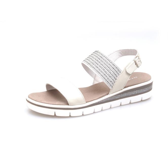 7ffd93e5d5c9 Dámske uzatvorené sandále na nízkom podpätku Rizzoli - biele ...