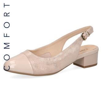 50c4ad00c75b Dámske uzatvorené sandále na nízkom podpätku značky Caprice farba ružová ...