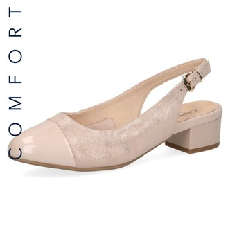 1941dd0f25 Dámske uzatvorené sandále na nízkom podpätku značky Caprice farba ružová ...