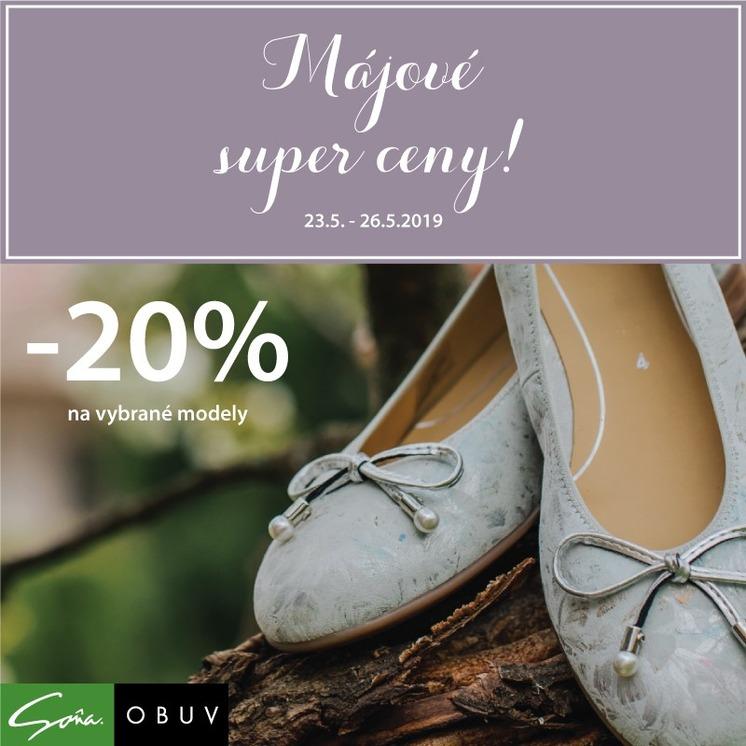 a2e0db6dc452 Novinky. Extra výhodné nákupy v obuvi Soňa so zľavou 20%