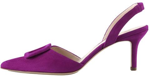 4c249ed5cac3 Soňa - Dámska obuv - Sandále - Fialové dámske uzatvorené sandále na vysokom  podpätku značky Hogl
