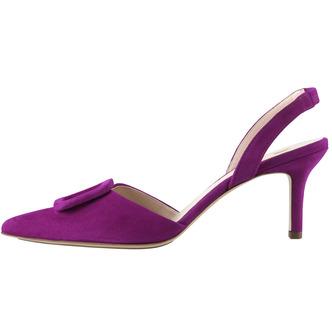 78f1a662d4fc Fialové dámske uzatvorené sandále na vysokom podpätku značky Hogl ...