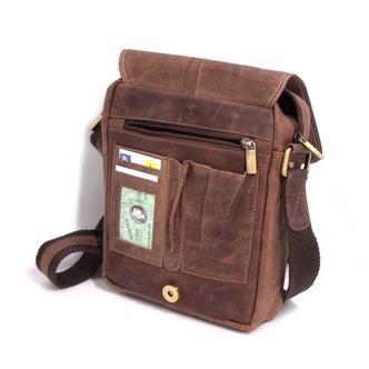 a6f06bfe44cca Hnedá kožená taška cez telo (crossbody) Doprava zadarmo