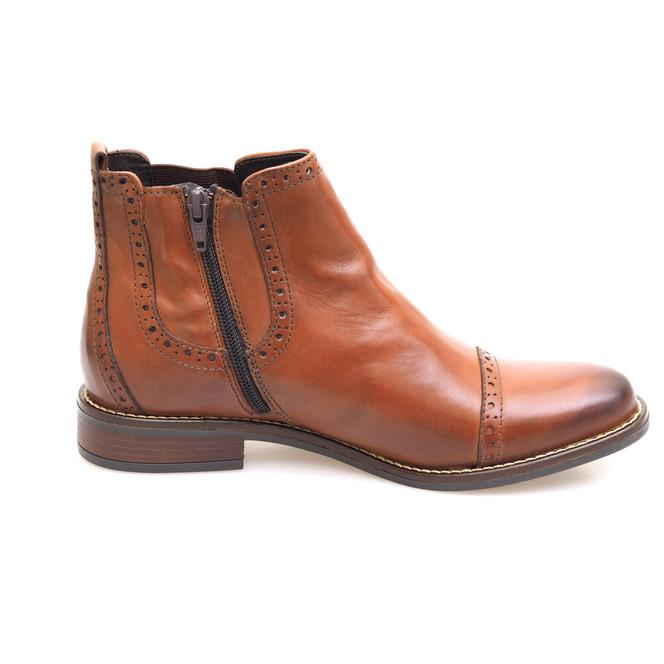 2244daf2b ... Hnedé dámske kotníkové topánky zateplené na nízkom podpätku