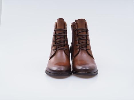 fd0390d7e0 Soňa - Dámska obuv - Kotníčky - Hnedé kožené topánky na šnurovanie